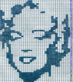 Monroe Intarsia Pattern - Originally for KNITTING but I would make it in CROSS STITCH