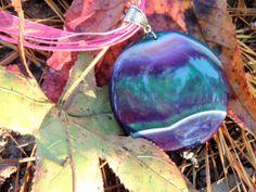 Chic Modern Trendy Round Onyx Agate Gemstone Statement Necklace by TheseVagabondShoes, $22.00