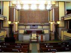 Frank Lloyd Wright - MODERNIZM | Notes from Architecture Unitarianów Oak Park