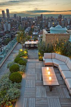 Edmund Hollander Landscape Architects | CENTRAL PARK WEST ROOFTOP