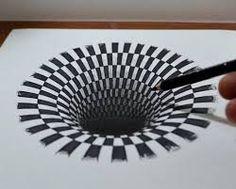 3D-иллюзия на бумаге - Поиск в Google