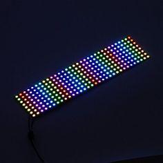 BTF-LIGHTING WS2812B Digital Flexible LED Panel 0.24ft*0.96ft Pixel 256 Pixels Individually addressable Full Dream color lighting DC5V Cheap Lighting, Led Panel, Accessories Store, Led Strip, String Lights, Light Colors, Flexibility, Turquoise Bracelet, Display