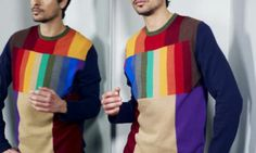 Men's fashion: smashing knits courtesy of Clements Ribeiro Knitwear Fashion, 70s Fashion, Fashion News, Color Swatches, Dress Codes, Menswear, Colours, Knitting, My Style
