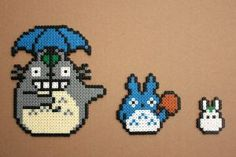 Totoro Bead Sprites Hama Perler by strepie93