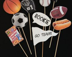 SPORTS Themed Photo Booth Props - sports theme party, Photo Booth, Photo props, Sports Theme Birthday, Favor, Holidays, Favor Ideas