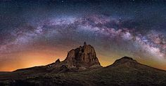 Shiprock Revisited. This is a panorama of 12 vertical images taken with a 24 mm Bower-Rokinon lens at f/1.4 15 sec. and ISO 12800. I am posting this as a video and as a plain photo as IG makes panoramas seem very small. Hope you enjoy! Cheers s Wayne  http://ift.tt/21HQssi by wayne_pinkston