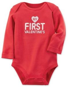 "carter's® ""My First Valentine's"" Bodysuit in Red"