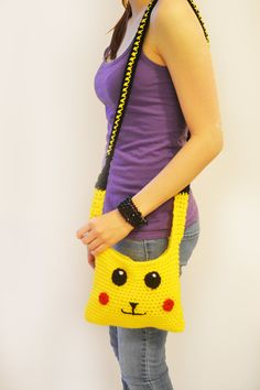 Crochet Pikachu Purse