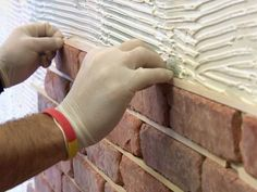DIY Thin Brick Interior Walls - How to Install Brick Veneer on a Wall - this would be cool for the small bath/powder room Brick Veneer Wall, Fake Brick Wall, Faux Brick, Brick Walls, Thin Brick Veneer, Faux Stone, Exposed Brick, Brick Interior, Interior Walls