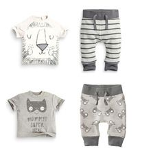 Retail 2015 spring infant clothes baby clothing sets boy Cotton little monsters and the lions short sleeve 2pcs baby boy clothes(China (Mainland))