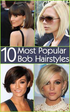 10 Most Popular Bob Hairstyles