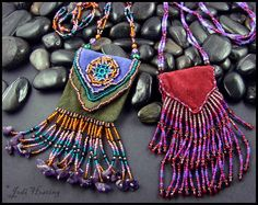 Some of my amulet/medicine bags from back in the days!