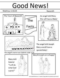 Birth of Jesus Preschool Projects: Gabriel tells Mary & Joseph they will have Baby Jesus!