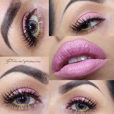 #pink #makeup inspired by pink lemonade eyeshadow