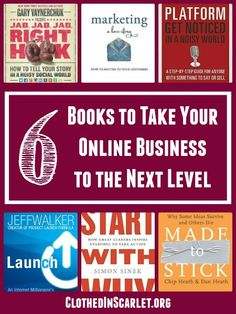 Here are 6 books to take your online Business to the next level. Which book will you be picking up first?