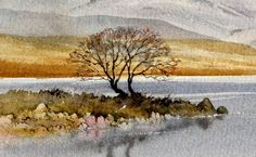 DavidBellamyArt: Lost and found tonal effects Watercolor Painting Techniques, Pen And Watercolor, Watercolour Tutorials, Watercolor Landscape, Watercolour Painting, Painting & Drawing, Landscape Paintings, Watercolors, Watercolor Pictures