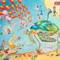 """Minigame, The Ocean Helper"""" by Lang Ren, age 9 Projects For Kids, Art Projects, Bronze Award, Cars Usa, Drawing For Kids, Colored Pencils, Art Lessons, Watercolor Art, Dream Cars"""
