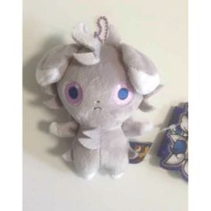 Pokemon Center 2014 Espurr Wanted Campaign Espurr Mascot Plush Keychain