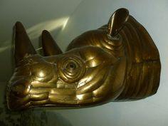 Brass Sergio Bustamante  Rhino Sculpture Signed Numbered