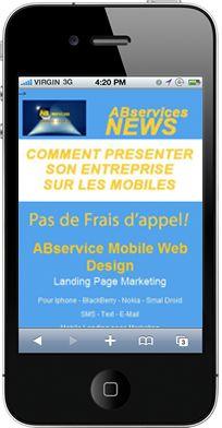 mobile landing page Marketing