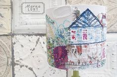 Hand embroidered lampshades by marna lunt