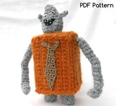 Boxtroll crochet pattern by TeaTimeYarnDesign, cute amigurumi monster  Paid pattern...inspiration only.