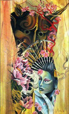 Backpiece painting by Tony Mancia: TattooNOW :
