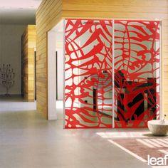 Large Leaf Screen | Architectural Screens | Yellow Goat Design - Custom Lighting