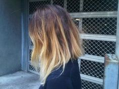 Long bob with ombre color