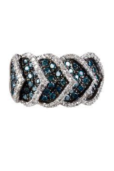 Savvy Cie Pave Diamond Scales Ring - 1.00 ctw