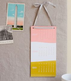 Simply a simplesong calendar. #calendar #letterpress #etsy