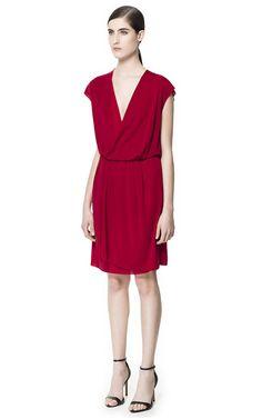 DRAPED CROSSOVER DRESS - Dresses - Woman - ZARA Israel