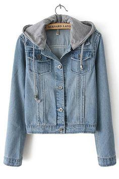 Classical Hooded Denim Jacket - OASAP.com