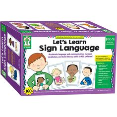 Accelerate language development and communication with Let's Learn Sign Language learning cards. The beautifully illustrated cards show finger spelling and hand positions, along with a written descrip