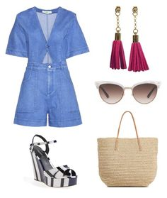 """""""Beach Betty"""" by ohbon on Polyvore featuring STELLA McCARTNEY, Dolce&Gabbana, Target and Gucci"""
