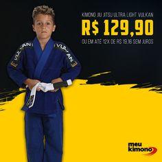 171185180aca2 Kimono Jiu Jitsu Azul Royal Ultra Light Vulkan - Infantil  kimono   kimonojiujitsu  kimonojiujitsuinfantil