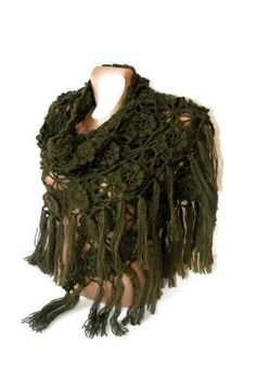 hand crocheted shawlwomen accessoriesgreen2013 by seno on Etsy, $75.00
