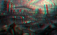 Ruins 3D Anaglyph Red Cyan by Fan2Relief3D on DeviantArt