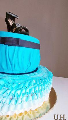 Fondant cake, fondant shoe