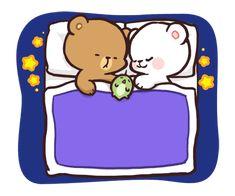 Cute Couple Cartoon, Cute Cartoon Pictures, Cute Love Pictures, Cute Love Cartoons, Cute Panda Drawing, Cute Bear Drawings, Kawaii Drawings, Polar Bear Drawing, Cute Love Memes