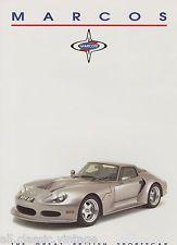 MARCOS - LM500/Mantara Spyder Coupe brochure/prospekt/folder English/Dutch 1995   eBay