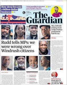 Portada de The Guardian (Reino Unido) Newspaper Design, Newspaper Article, The Guardian, Sayings, Editorial Design, United Kingdom, Journaling, Cover Pages, Journal Design
