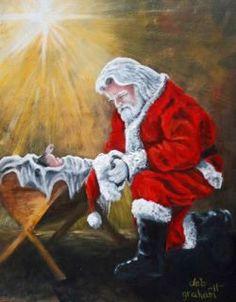 santa kneeling to jesus christ the only santa to ever adorn my flower shop