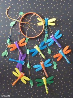 Felt mobile with dragonflies. por Kosucas en Etsy