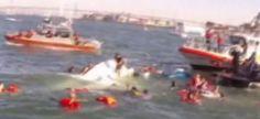 Impresionante vídeo de un naufragio y las labores de rescate...