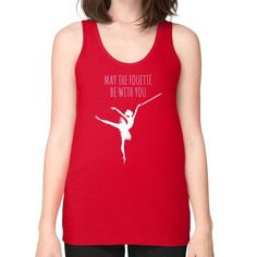 MAY THE BALLET Unisex Fine Jersey Tank (on woman)