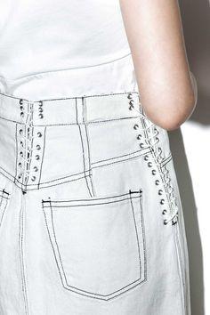 3.1 Phillip Lim Corseted Denim Skirt - 6