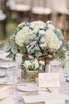 wedding reception with hydrangea centerpieces | @Artisokas loves pretty and inspired decor ideas #weddings_design #weddings_decor | fi d more events decor ideas at www.artisokas.lt