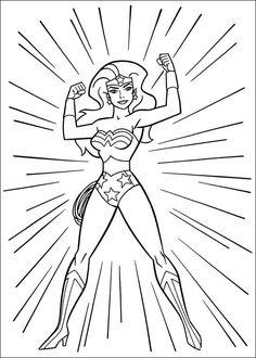 Wonder Woman Ausmalbilder 47
