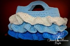 Ravelry: Ruffle Purse pattern by Shannon Corcoran Family Traditions Crafts